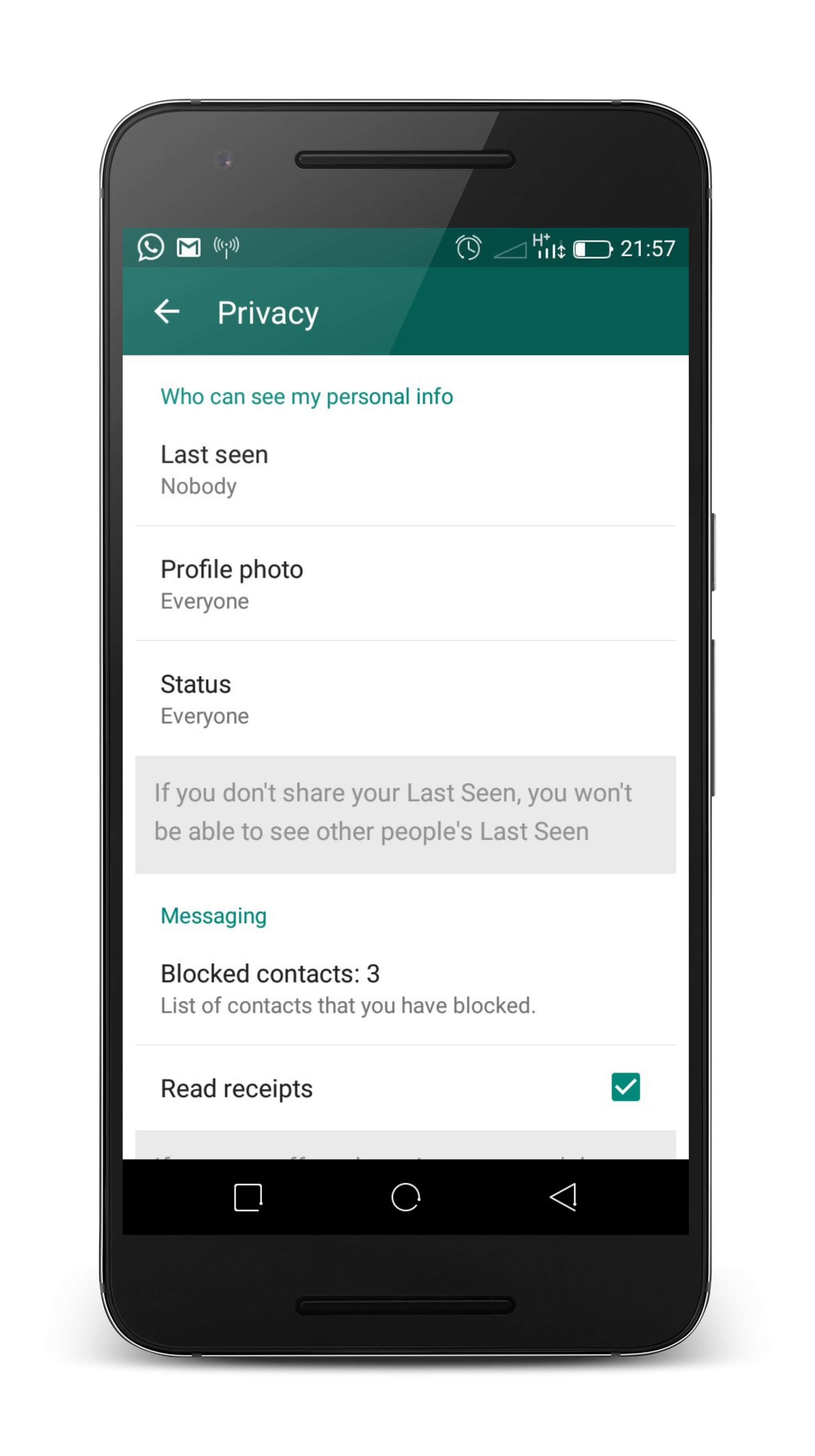 understand your whatsapp privacy settings