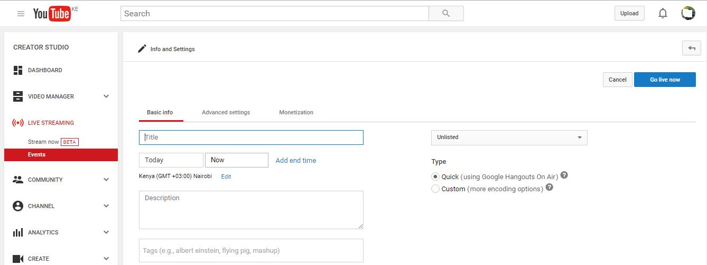 Use YouTube As Free Desktop Screen Recorder - WebPro Education