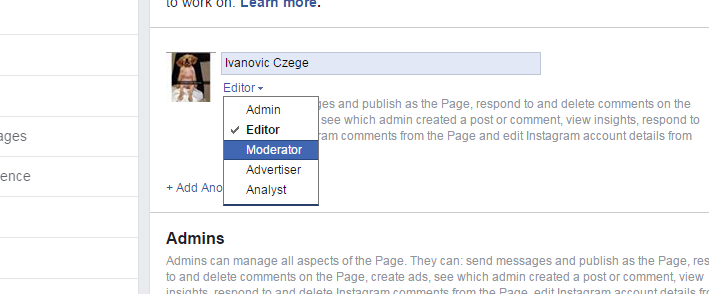 Facebook Page Admin And Roles