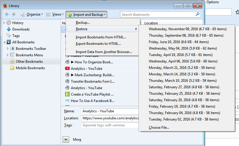 How To Backup Firefox Bookmarks