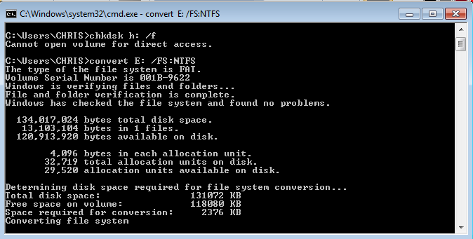 fat32 to ntfs on Webpro