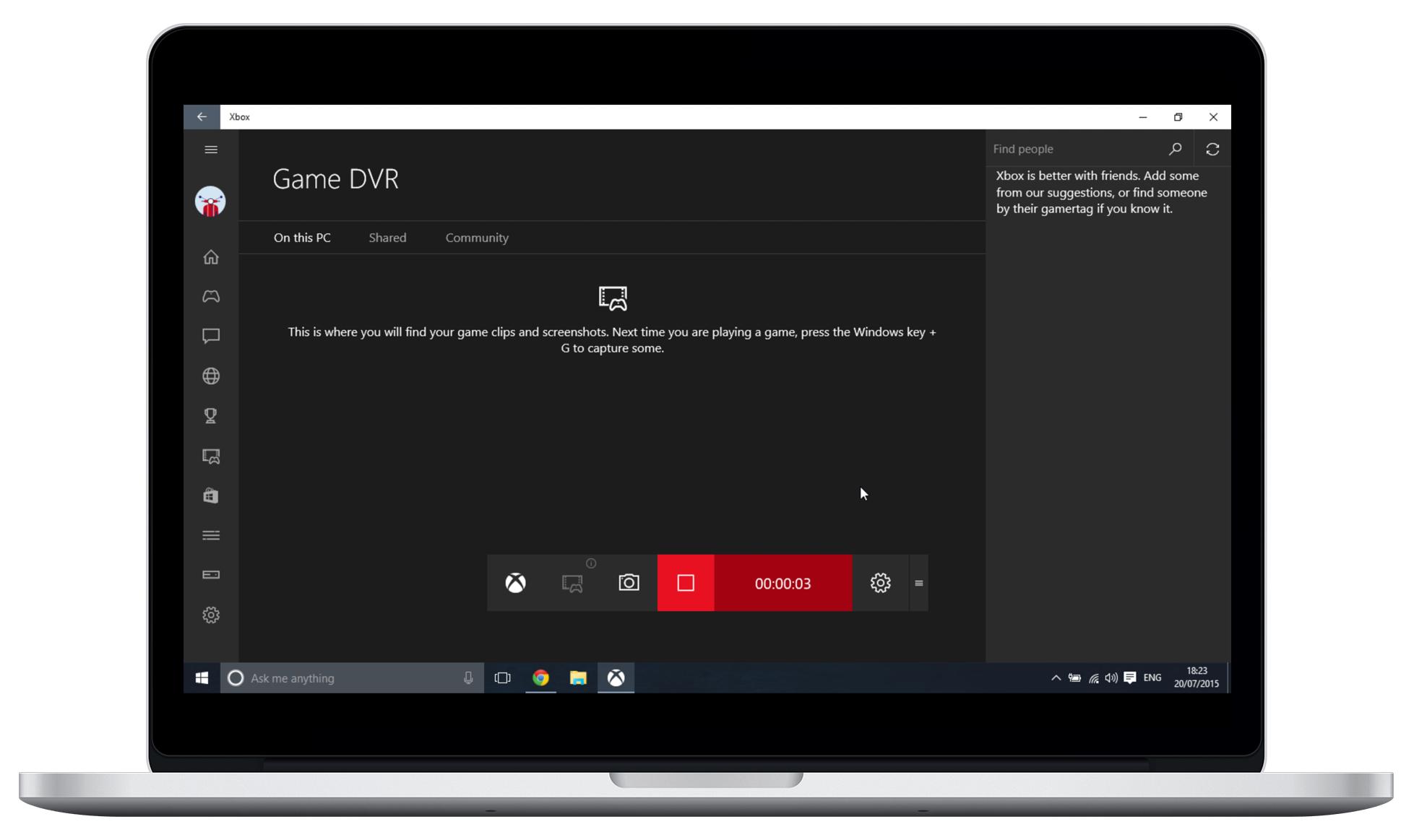 Free Screen Recorder in Windows 10
