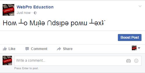 upside down text flipp