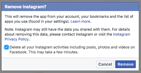 How To Delete Instagram Posts From Facebook