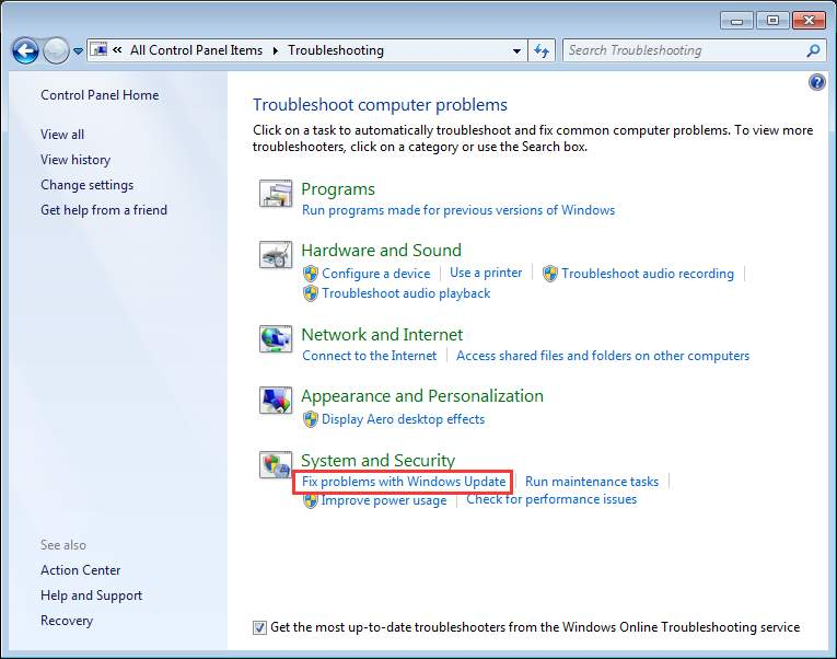 How To Fix80072ee2Error In Windows Update