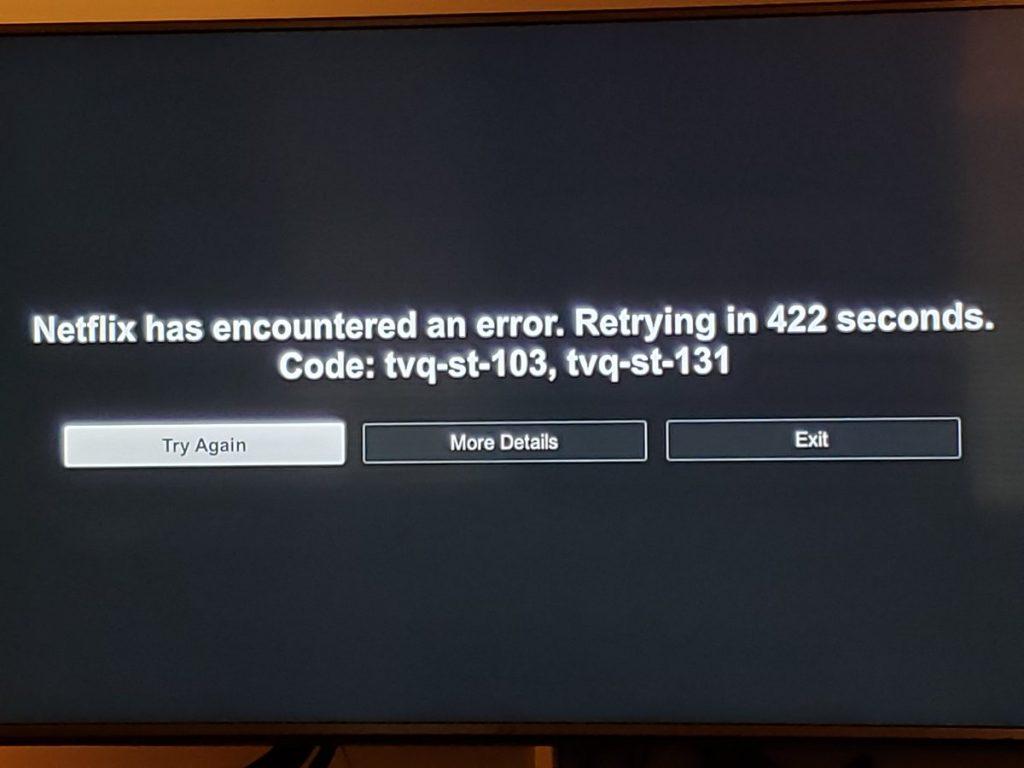 Netflix Error code tvq-st-131