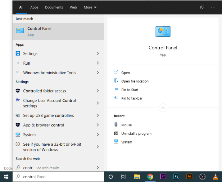 How To Find The Windows 10 Control Panel