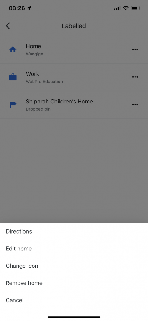 directions to home