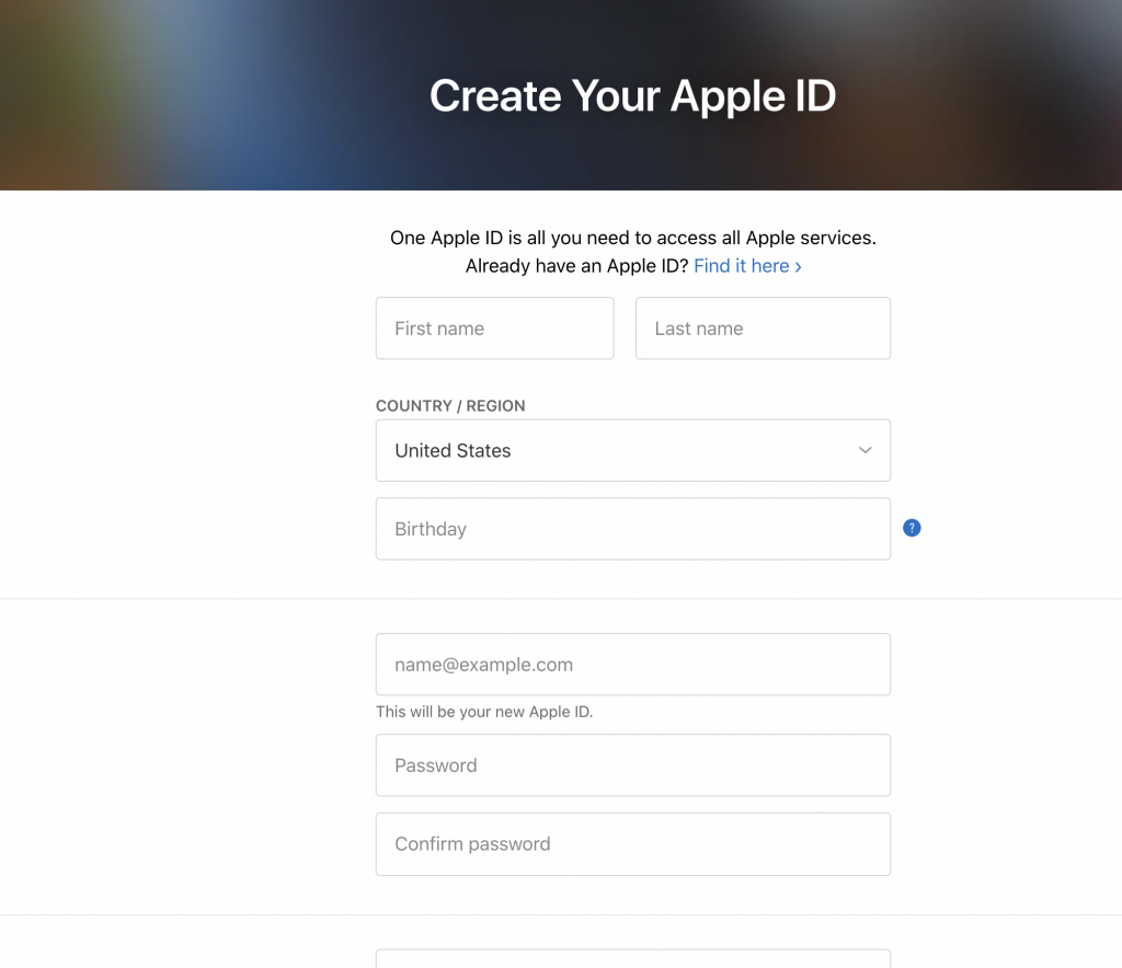 create apple id without iPhone