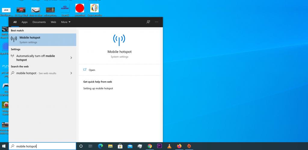 how to change hotspot password on windows 10
