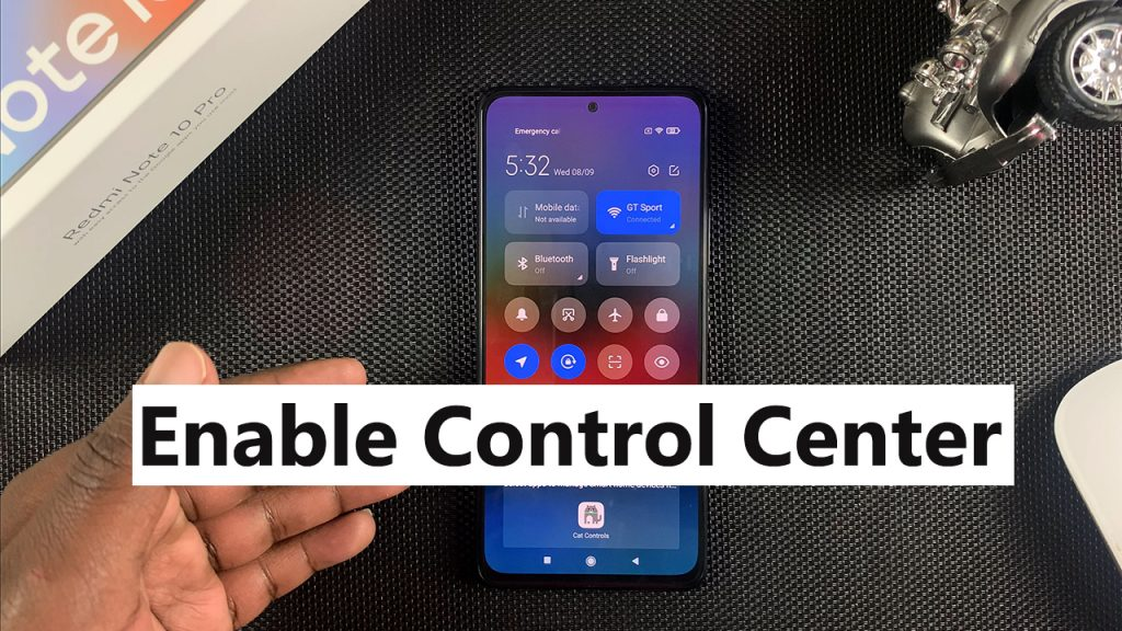 enable control center on redmi note 10 pro