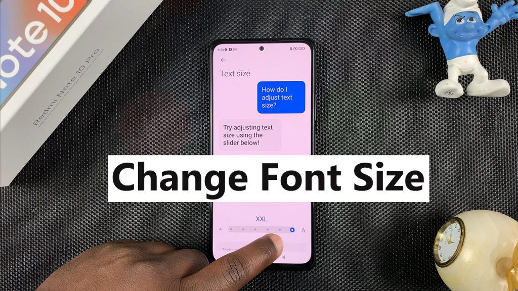 how to change font size on redmi note 10 pro