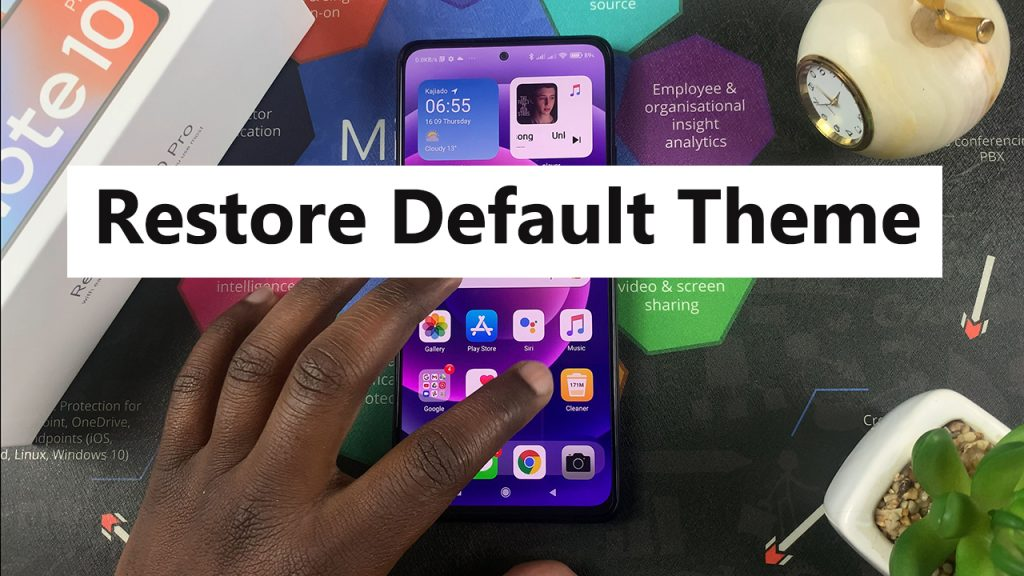 how to restore default theme on redmi note 10 pro